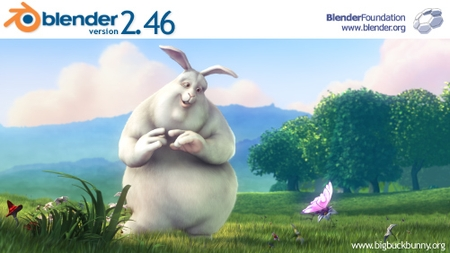 Blender 2.46 splashscreen